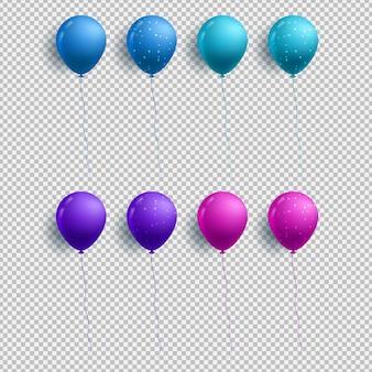 Luftballons isoliert