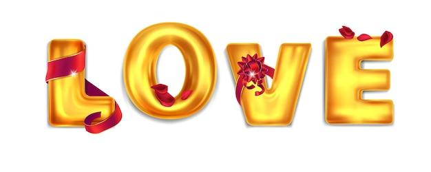 Luftballons mit der aufschrift liebe