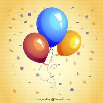 Luftballons und luftschlangen