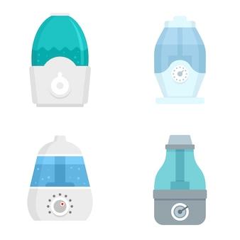 Luftbefeuchter-icon-set