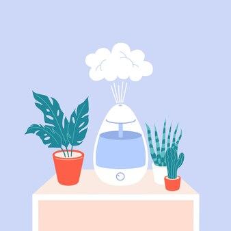 Luftbefeuchter mit zimmerpflanzen luftreiniger verdampfer luftreiniger mikroklima