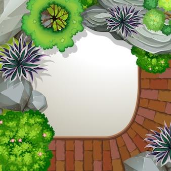 Luftbild des gartens