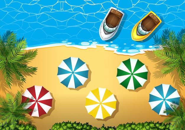 Luftbild des strandes