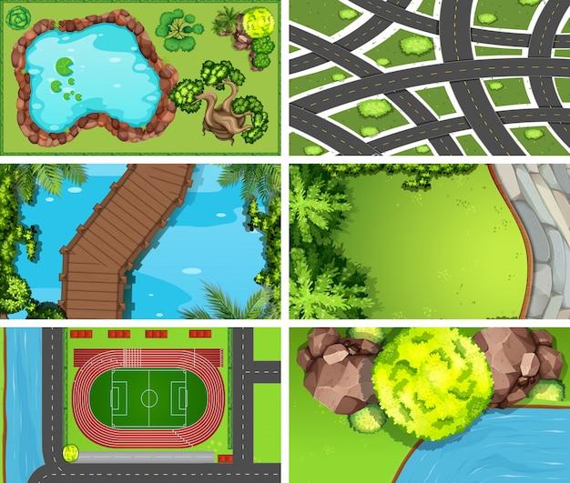 Luftbild von naturszenen