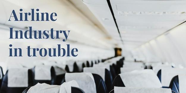 Luftfahrtindustrie in schwierigkeiten während des ausbruchs des coronavirus