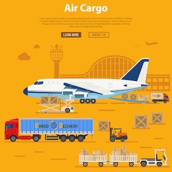Luftfrachtlieferung und logistik