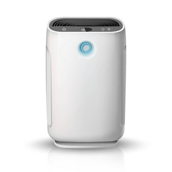 Luftreiniger, auf weißem hintergrund illustrationssymbol. luftreinigungs- und befeuchtungsgerät für das haus.