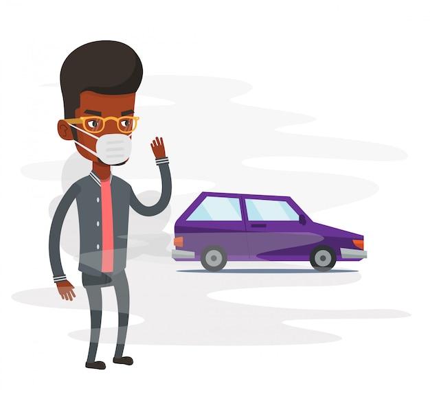 Luftverschmutzung durch fahrzeugabgase.