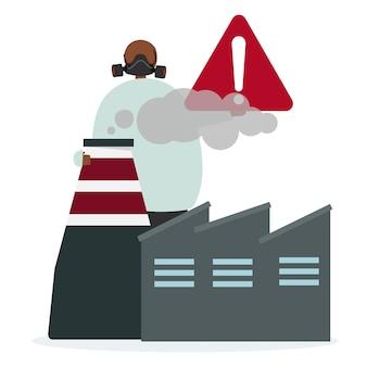 Luftverschmutzung und Gefahren der Fabrik