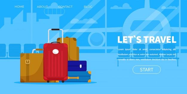 Lugagge airport terminal für touristengepäck