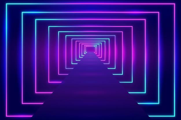 Lumineszierender neonlichthintergrund