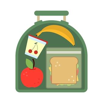 Lunchbox mit essen