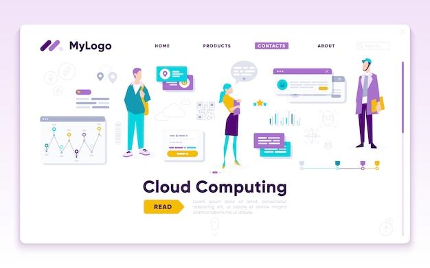 Lunding-seitenvorlage des digital marketing analyst