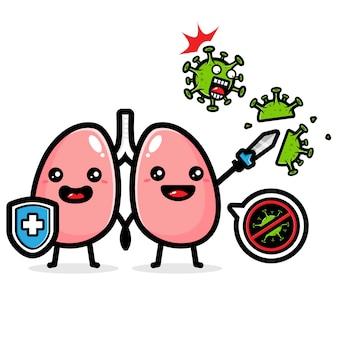 Lungen-design gegen viren