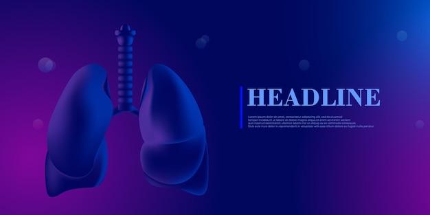 Lungenkrankheit im menschlichen körper gesundheit des menschen atemwegserkrankung lungenentzündung krankheit biologie wissenschaft