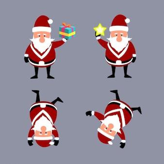 Lustige cartoons von santa claus