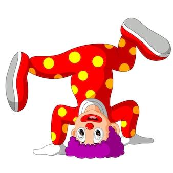 Lustige clownkarikatur