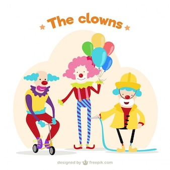 Lustige clows