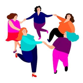 Lustige damen tanzen