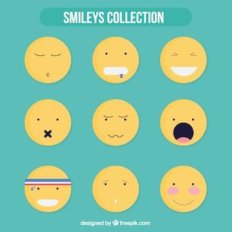 Lustige gelben smiley-sammlung