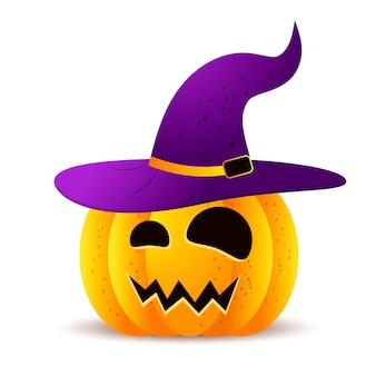 Lustige gesichter der halloween-kürbise