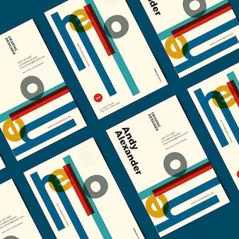 Lustige grafikdesigner-visitenkarte der schablone