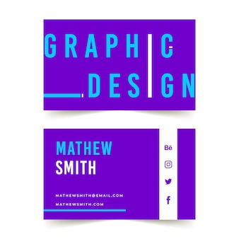 Lustige grafikdesigner-visitenkarte
