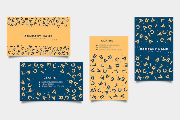Lustige grafikdesigner-visitenkarteschablone