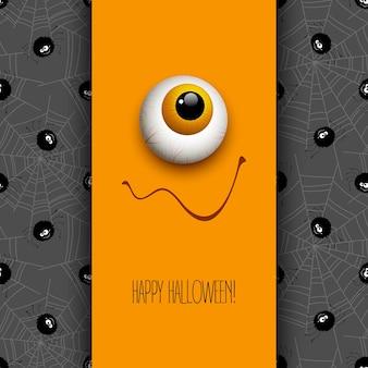 Lustige halloween-grußkartenmonsteraugen. vektor-illustration eps 10