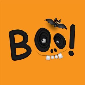 Lustige halloween schädel monster augen.
