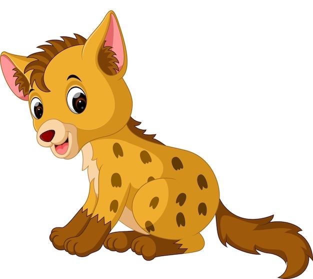 Lustige hyäne der karikatur