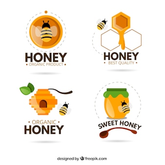 Lustige logos für bio-honig