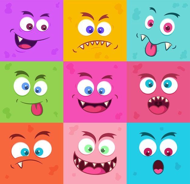 Lustige monster emotionen