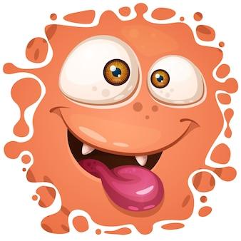 Lustige, niedliche, verrückte monsterfiguren. halloween-abbildung