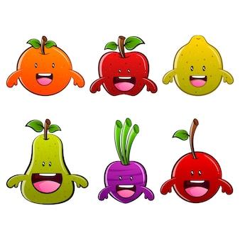 Lustige obst und gemüse cartoon