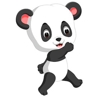 Lustige panda-cartoon