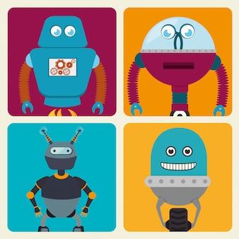 Lustige roboterkarikatur