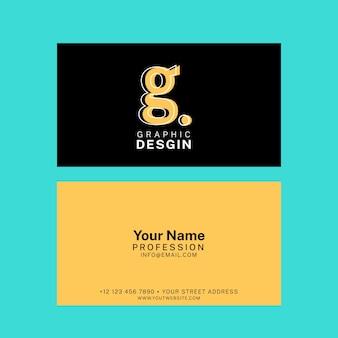 Lustige schablonengrafikdesigner-visitenkarte