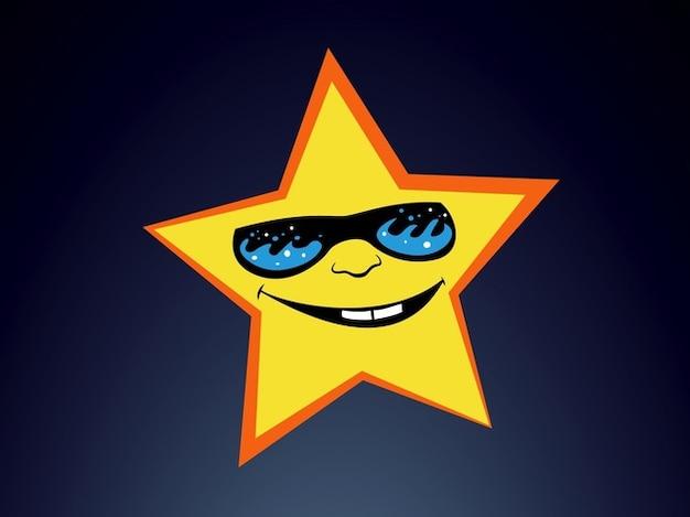 Lustige superstar lächelnd sonnenbrille vektor