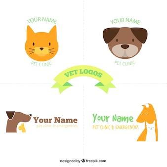 Lustige tierärztliche logo-vorlagen
