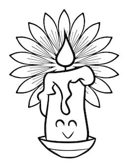 Lustige und niedliche kawaii, die glücklich für halloween lächeln - malvorlagen