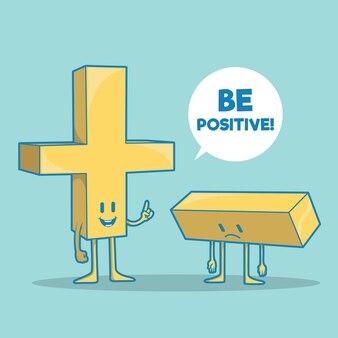 Lustige und positive zeichenillustration motivationsphantasie-entwurfskonzept