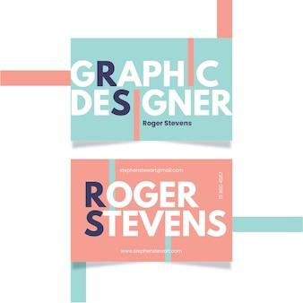 Lustige visitenkarte des schablonengrafikdesigners