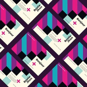 Lustige visitenkarteschablone des grafikdesigners