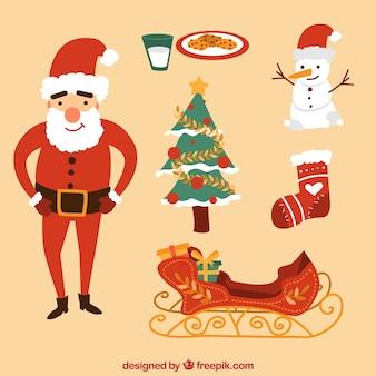 Lustige weihnachten element sammlung