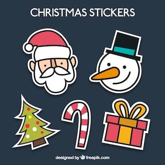 Lustige weihnachts stikers