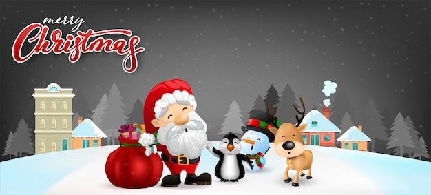 Lustige weihnachtsgrußkarte