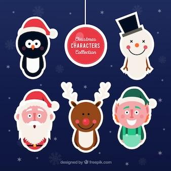 Lustige weihnachtszeichen aufkleber