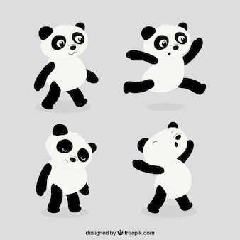 Lustigen panda-pack