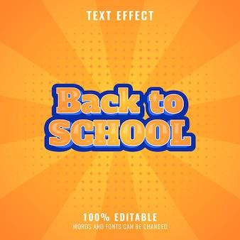 Lustiger back-to-school-texteffekt mit halbtonhintergrund